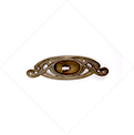 ART NOUVEAU STYLE OPENWORK RECESSED KEYHOLE COVER - Zoom